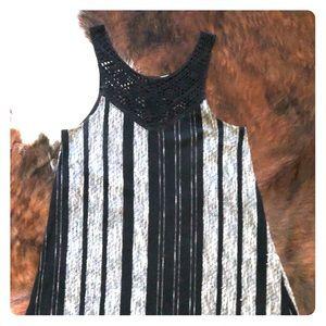 Strapless, short, boho-ish, short dress